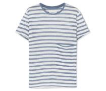 The Drop Pocket Gestreiftes T-shirt aus Leinen