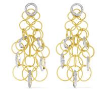 Hawaii Ohrringe aus 18 Karat Gelb- und Weiß