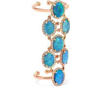Ring aus 18 karat  mit Opalen und Diamanten