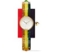 Verzierte Uhr aus Plexiglas®