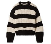 Griffith Oversized-pullover aus einer Gestreiften Baumwollmischung