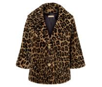 Mantel aus Shearling mit Leopardenprint