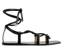 Aziza Flache Sandalen aus Leder