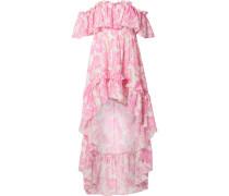 Alexia Asymmetrisches Kleid aus Voile aus einer Baumwoll-seidenmischung