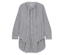 New Swing Gestreiftes Hemd aus Baumwollpopeline