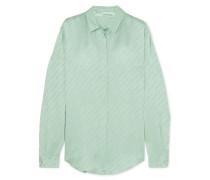 Bluse aus Glänzendem Jacquard