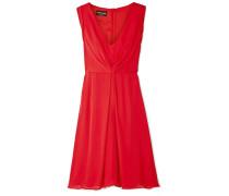 Gerafftes Kleid aus Seidenchiffon