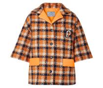 Jacke aus Woll-tweed mit Shell-besatz