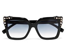 Nietenverzierte Sonnenbrille