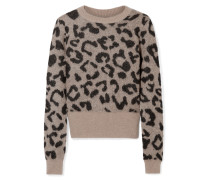 Pullover aus Jacquard aus einer Mohairmischung