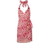 Bacio Bedrucktes Mini-wickelkleid aus Voile