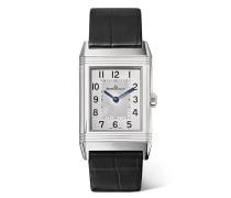 Reverso Classic Medium Thin Uhr aus Edelstahl
