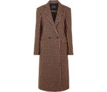 Karierter Mantel aus Tweed aus einer Wollmischung