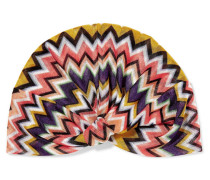 Haarband aus Strick in Häkeloptik
