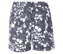 Shorts aus Floral Bedrucktem Piqué