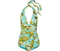 Floral Bedruckter Neckholder-badeanzug