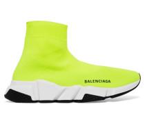 Speed High-top-sneakers aus Neonfarbenem Stretch-strick