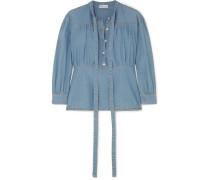 Bluse aus Chambray aus einer Baumwollmischung