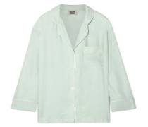 Marina Pyjama-hemd aus Seidensatin