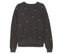 The College Besticktes Distressed-sweatshirt aus Flammgarn-jersey aus Baumwolle
