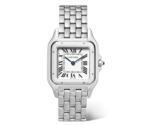 Panthère De  27 Mm Mittelgroße Uhr aus Edelstahl