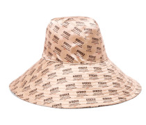 Bedruckter Hut aus Seidensatin