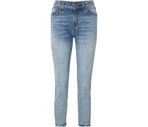 Hoch Sitzende Jeans mit Geradem Bein
