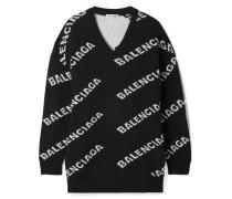 Oversized-pullover aus einer Wollmischung