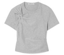 Verkürztes T-shirt aus Stretch-baumwoll-jersey