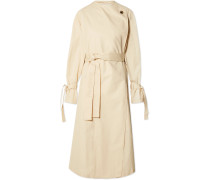 Oversized-trenchcoat aus Baumwoll-twill