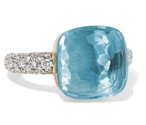 Nudo Ring aus 18 Karat  mit Topas und Diamanten