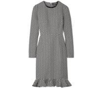 Minikleid aus Jacquard aus einer Baumwollmischung