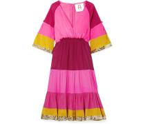 Fiona Gestreiftes Kleid aus Seidensatin