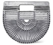 Ark Mini Clutch aus Acryl in Metallic-optik