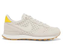Internationalist Sneakers aus Perforiertem Leder und Veloursleder