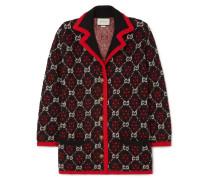 Oversized-cardigan aus Jacquard aus einer Woll-alpakamischung