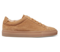Retro Low Sneakers aus Veloursleder