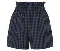 Shorts aus Seersucker mit Gingham-karo