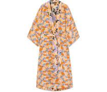 Nat Wendbarer Kimono aus Crêpe De Chine aus Seide