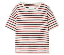 The Roadie T-shirt aus Gestreiftem Baumwoll-jersey in Distressed-optik