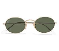 farbene Sonnenbrille mit Ovalem Rahmen
