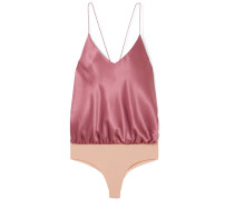 Lewis String-body aus Seiden-charmeuse und Stretch-jersey