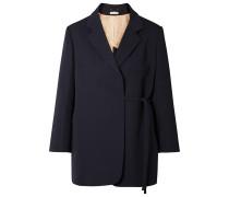 Asymmetrischer Oversized-blazer aus Twill aus einer Wollmischung