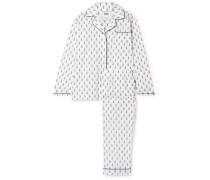 Bishop Pyjama aus Bedruckter Baumwollpopeline