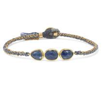 Triple Orbit Armband aus 18 Karat Gold und Seide