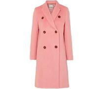 Lockie Doppelreihiger Mantel aus Gebürstetem Filz
