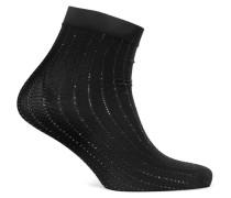 Sparkle Stripe Gestrickte Socken in Metallic-optik