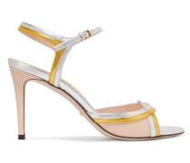 Millie Sandalen aus Metallic- und Lackleder