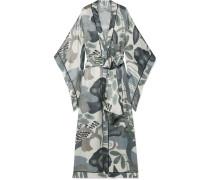 Bedruckter Kimono aus Seidensatin