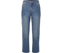 Standard Hoch Sitzende Jeans